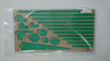 "Tray with widgets ""XL"" ver.1 - Transparent green/sonoma wood"
